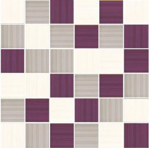 MOZAIKA SHEILA BLANCO-GRIS-LILLA 4,8x4,8_30x30