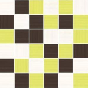 SHEILA BLANCO-KIWI-MARRON MOZ. 4,8x4,8_30x30