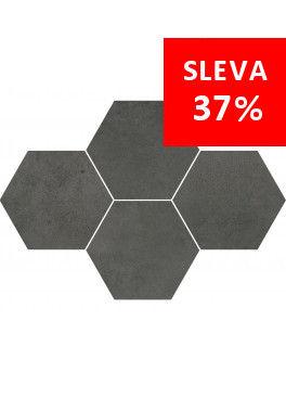 Dlažba Maxima Dark Grey Mosaic Hexagon