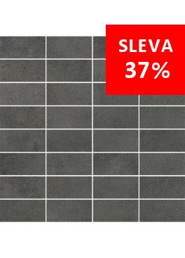 Dlažba Maxima Dark Grey Mosaic Pásky