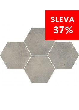 Dlažba Maxima Medium Grey Mosaic Hexagon