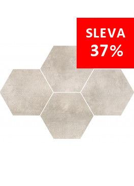 Dlažba Maxima Soft Grey Mosaic Hexagon