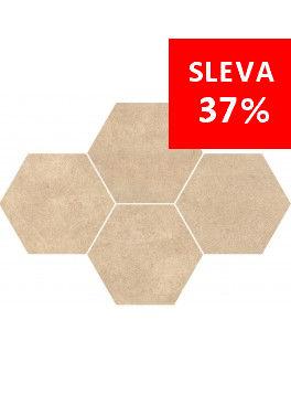 Dlažba Qubus Beige Mosaic Hexagon