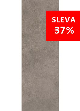 Dlažba Qubus Dark Grey Mat Rekt. 25x75