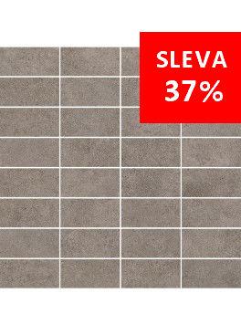 Dlažba Qubus Dark Grey Mosaic Pásky