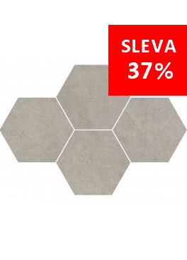 Dlažba Qubus Grey Mosaic Hexagon