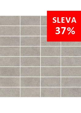 Dlažba Qubus Grey Mosaic Pásky