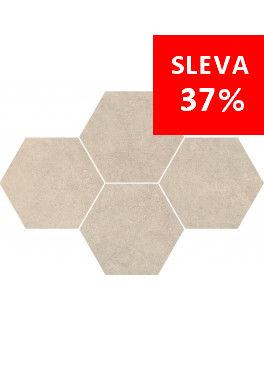 Dlažba Qubus Soft Grey Mosaic Hexagon