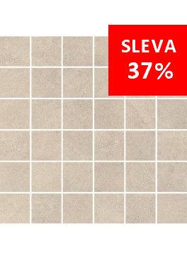 Dlažba Qubus Soft Grey Mosaic Kostka