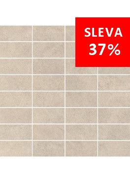 Dlažba Qubus Soft Grey Mosaic Pásky