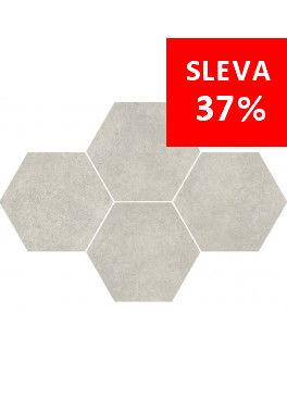 Dlažba Qubus White Mosaic Hexagon