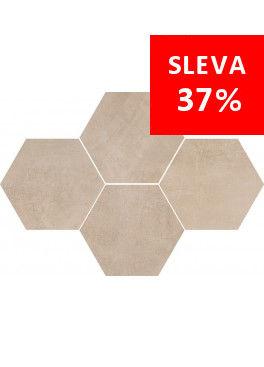 Dlažba Stark Beige Mosaic Hexagon