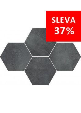 Dlažba Stark Graphite Mosaic Hexagon