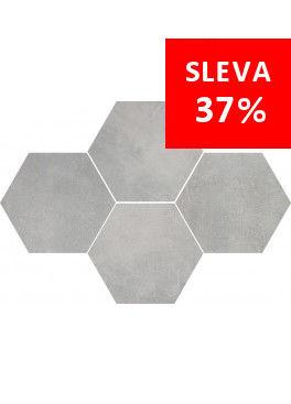 Dlažba Stark Grey Mosaic Hexagon
