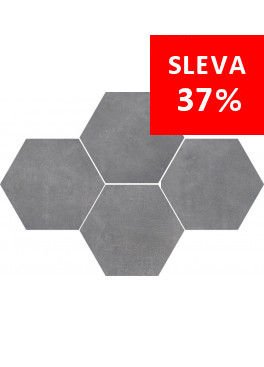 Dlažba Stark Pure Grey Mosaic Hexagon