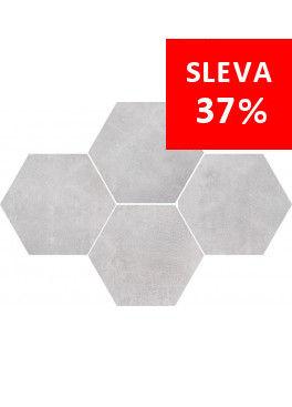 Dlažba Stark White Mosaic Hexagon